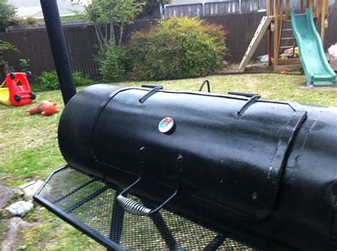 pit water heater smoker from a water tank backyard bbq