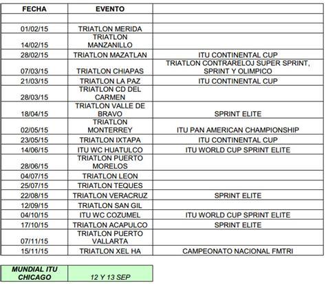 Calendario M Premium Conoce Las 19 Fechas Serial Premium De Triatl 243 N M 233 Xico