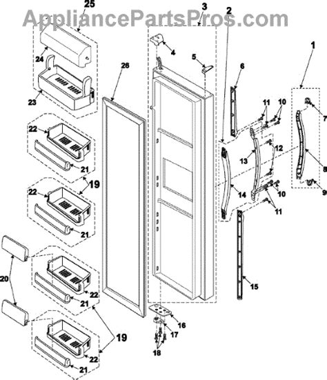 samsung da63 00838b shelf front appliancepartspros