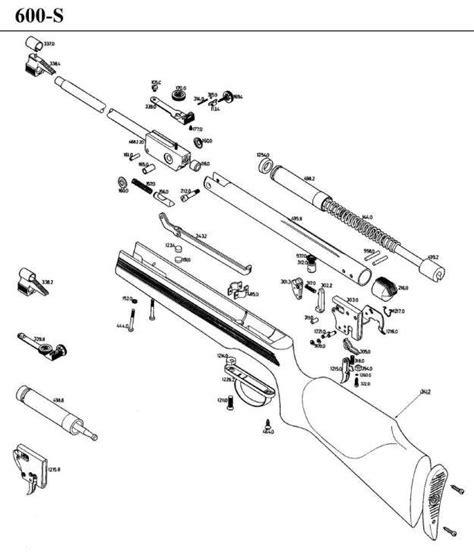 air rifle parts diagram gamo 600 s airgun parts breakdown