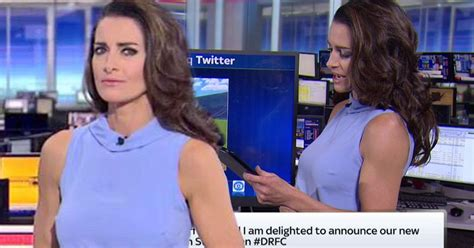 news reporter with hard nipples world news kirsty gallacher appears to suffer sky sports news
