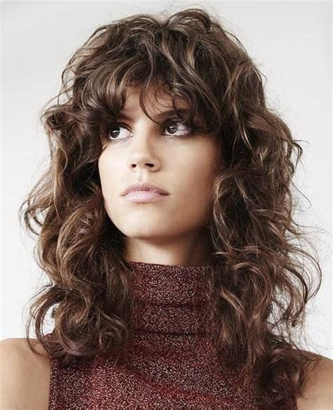 shaggy permed hair 15 curly hairstyles with bangs long hairstyles 2015