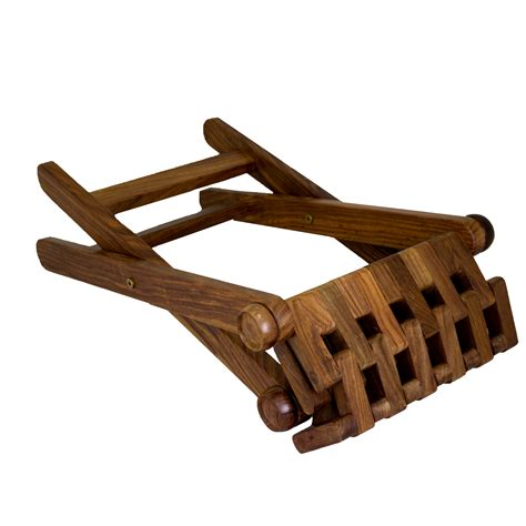 Folding Foot Stool by Folding Foot Stool Rest Home Carved Wooden