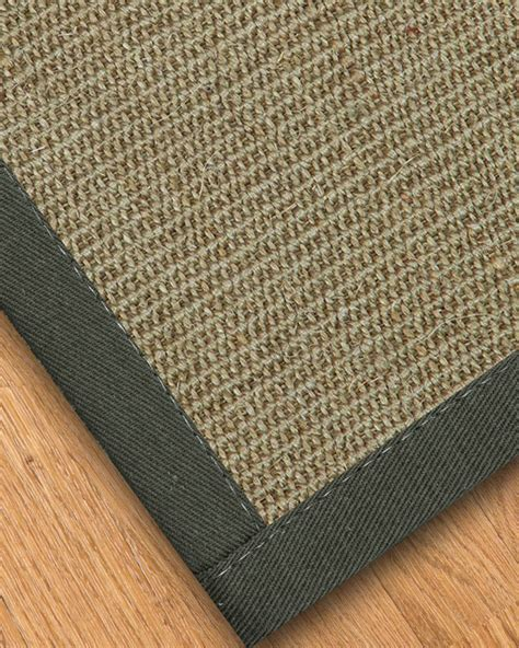 sisal rugs expressive sisal rug metal border available in custom sizes ebay