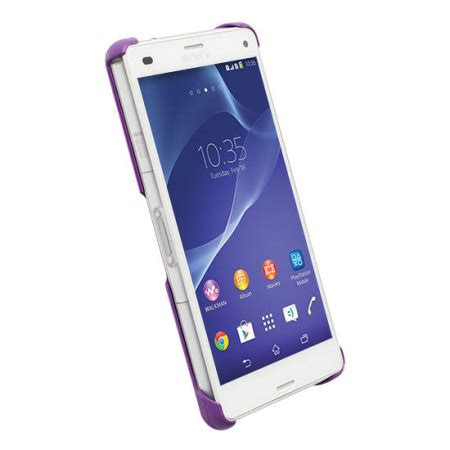 Sony Xperia Z3 Mini Compact Cover Purple Goospery Fancy Diary krusell malmo texturecover sony xperia z3 compact purple mobile ireland