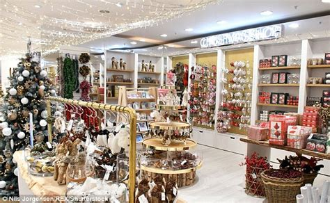 christmas decorations in wandswarth shopping centre london selfridges opens its shop in four months early daily mail