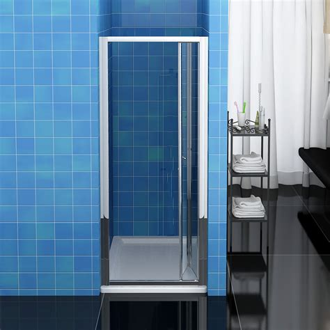 Folding Glass Shower Door Bifold Sliding Pivot Shower Door Enclosure Frameless 6mm 8mm Glass Screen Ebay