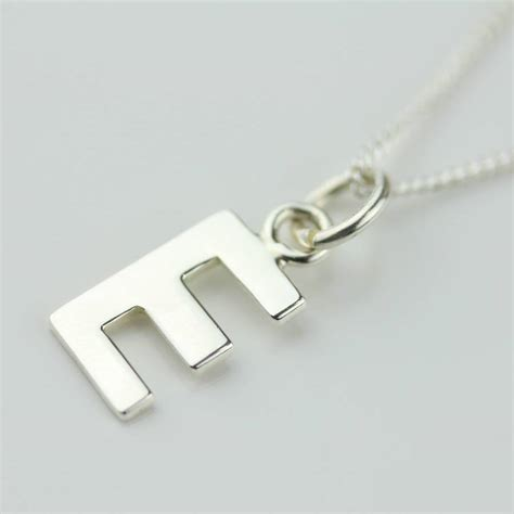 Silver Letter Charm Initial Necklace By Nest