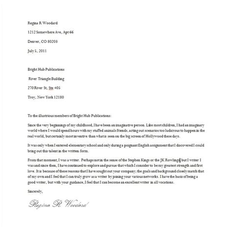 Introduction Letter To Your Resume Introduction Letter