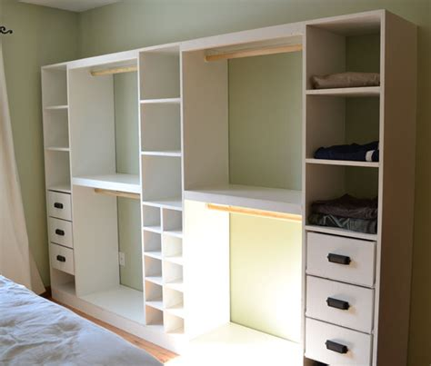 Closet Storage Plans White Master Closet System Drawers Diy Projects