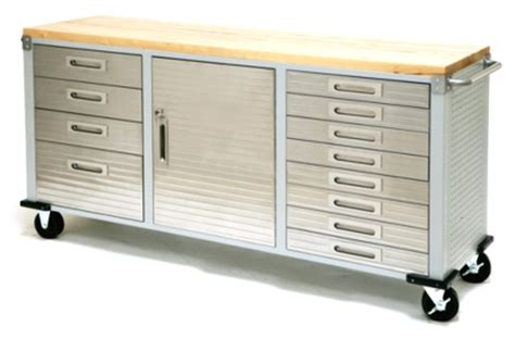 tool bench with drawers new 12 drawer tool cabinet work bench stainless steel wood