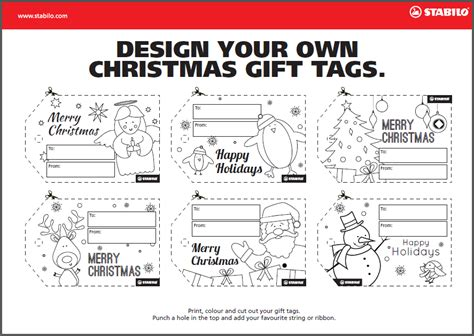 print your own gift tags uk create your own christmas gift tags stabilo uk blog