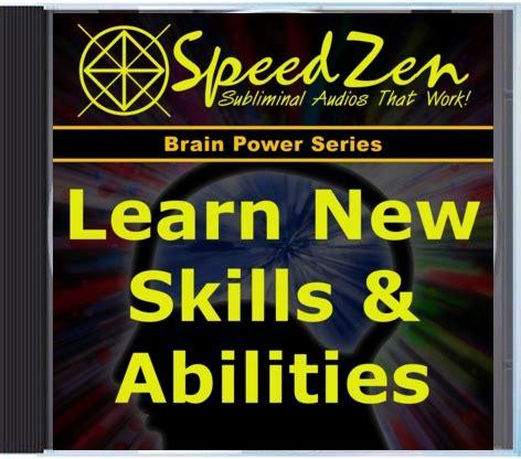 learn new skills abilities subliminal cd speedzen