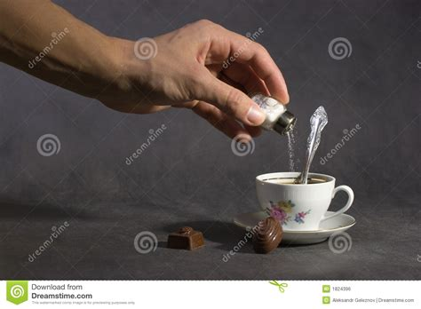 add salt to coffee adding poison to coffee royalty free stock image image