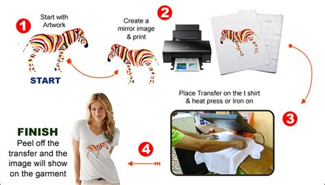 hp printer iron on transfer paper a4 inkjet transfer paper for iron on transfer for light