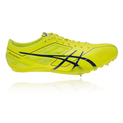 sport shoes spikes asics sonicsprint mens yellow running track field spikes