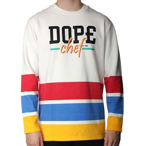 Sweater Chef dope chef 3 stripe hockey sweatshirt dope chef from the menswear site uk