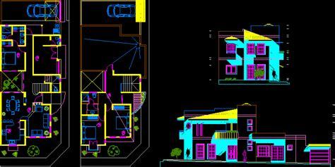 planos de casa habitacion en autocad descargar cad
