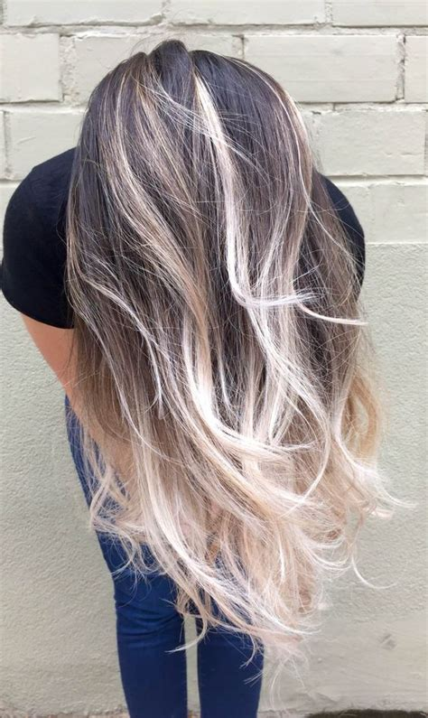 platinum blonde and brown ombre dark to platinum blonde ombre switch it up this season