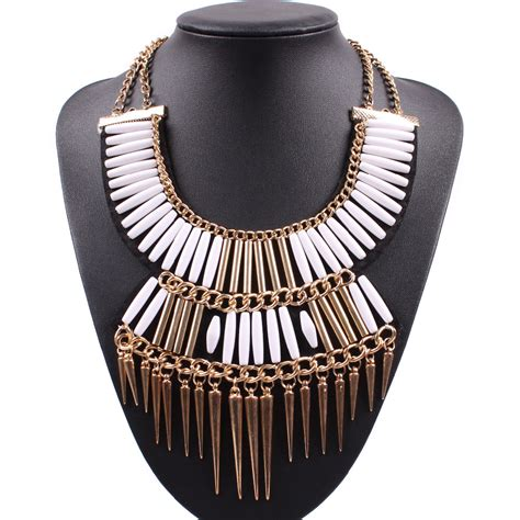 Fashion Collar 1 2016 fashion spike chunky statement choker necklaces fashion collar for free shipping in