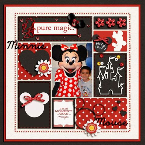Challenge Use Themed Papers For Non Themed Layouts The Mad Cropper 3 2 2 by 17 Best Images About Scrapbook Ideas Disney On
