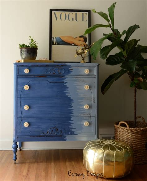 shades of blue ombre chest of drawers dresser changing a blue ombre piece named tallulah estuary designs