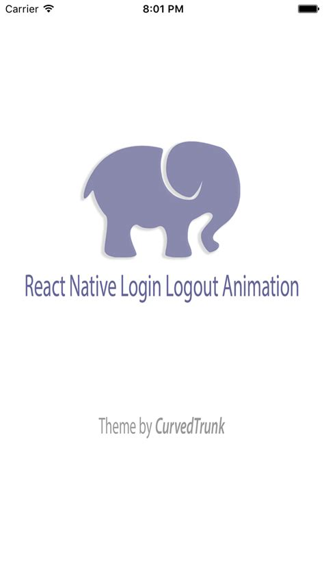 layout animation react native react native login logout animation by curvedtrunk