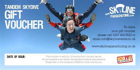 Skyline: Skydiving and parachuting gift vouchers across the UK