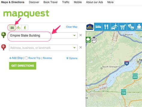 get map directions how to get driving directions on mapquest next generation