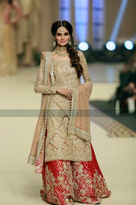 karachi pattern dress design latest wedding bridal sharara designs trends 2018 2019