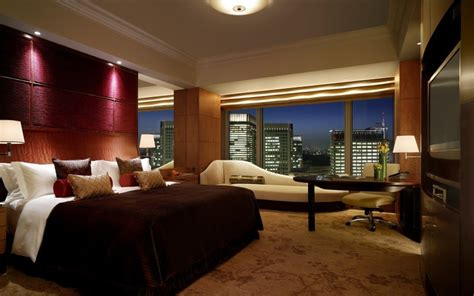 Luxuous Bedroom Hotel Room Lights Night Carpet City City Lights Wallpaper For Bedroom