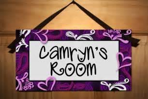 bedroom door signs purple swirls girls teen bedroom door sign wall art decor
