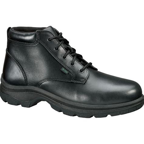 thorogood womens soft streets black leather boots plain