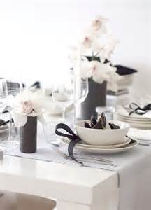 Black And White Table Setting White Wedding Table Settings 187 Elegant Black And White