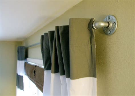 boys curtain rods paint diy curtains and galvanized piping bedrooms