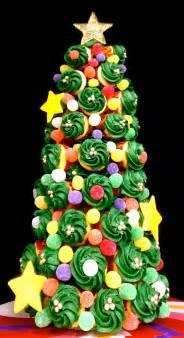 butrcreamblondi holiday cupcake tree