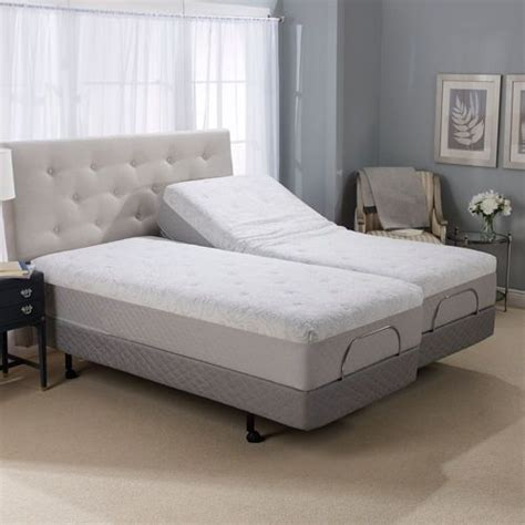 split king adjustable bed 12 quot serafina split king gel memory foam mattress with