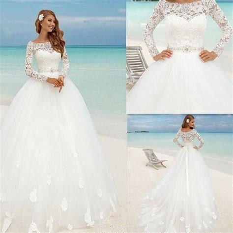 Islamic Plus Size Modest Wedding Dresses by Princess Lace Bridal Gowns Modest Country Wedding