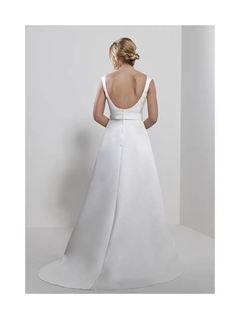 romantica shauna satin a line bridal gown with belt detail