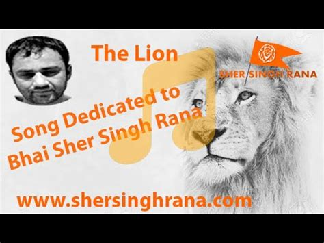 bhai the lion film youtube song dedicated to bhai sher singh rana save the lion