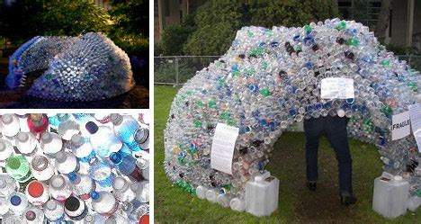Furniture Society by Recycled Plastic Bottle Igloo Building Urbanist