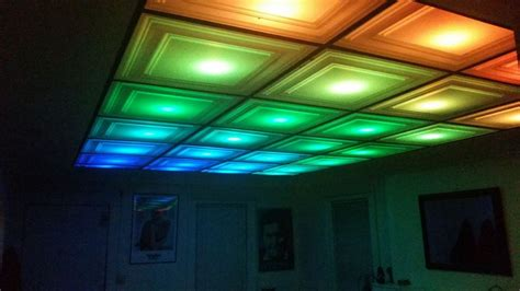 Colored Suspended Ceiling Tiles How To Turn Your Room Into A Nightclub With A Diy Led