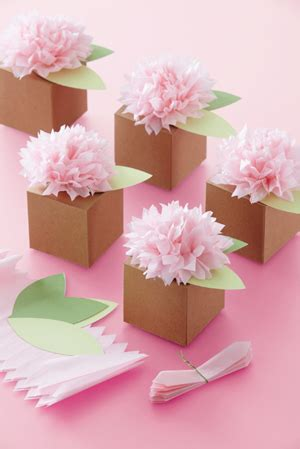 How To Make Tissue Paper Flowers Martha Stewart - martha stewart crafts tissue paper flower favor box kit