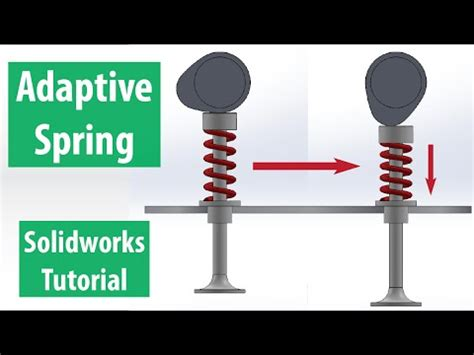spring tutorial youtube kaushik solidworks spring tutorial adaptive spring animation