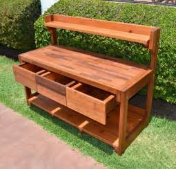Wood Bench Home Depot Eli S Potting Benches Built To Last Decades Forever Redwood