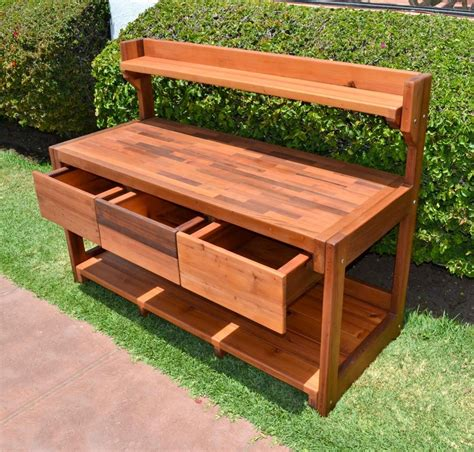s bench eli s potting benches built to last decades forever redwood