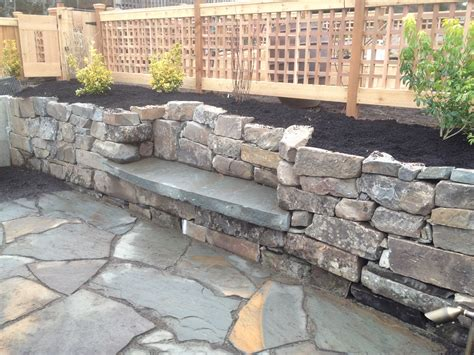 retaining wall bench dry stack retaining wall with bench fasoldt gardens
