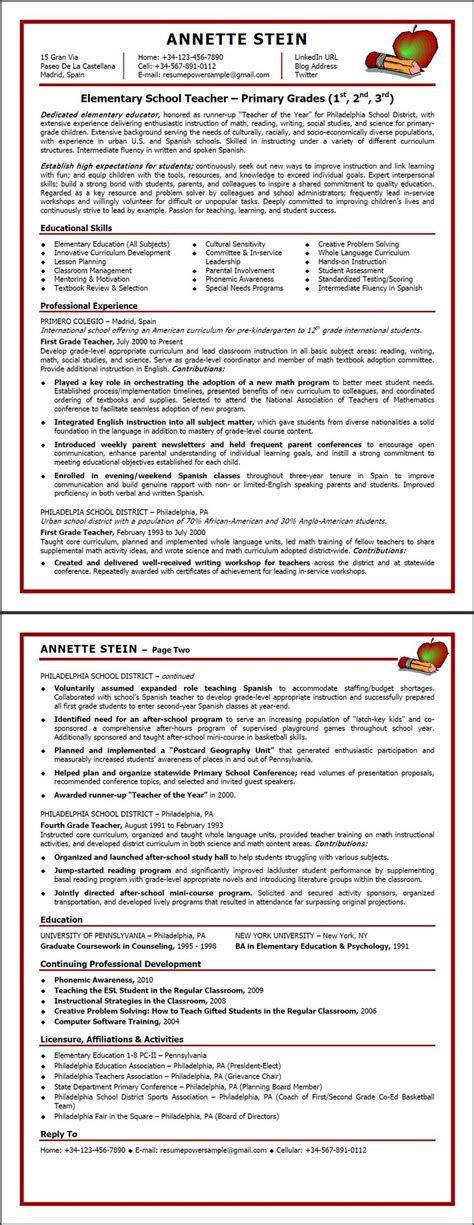 teaching abroad resume 52 images secondary resume exles for free with secondary resume exles