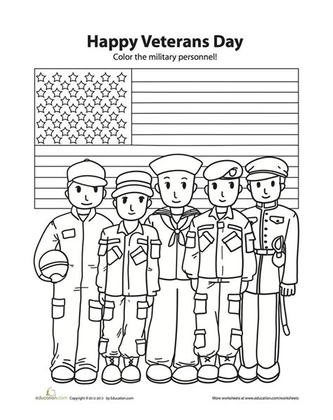 coloring page of veterans day veteran s day coloring sheet social studies for 1st