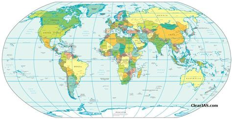 world map clear image countries of the world listed by continent clear ias